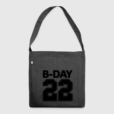 22nd birthday bday 22 number numbers jersey number - Shoulder Bag made from recycled material