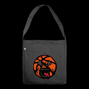 basketball 0 cartoon face tongue jaw - Shoulder Bag made from recycled material