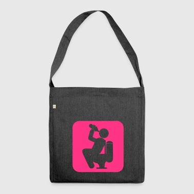 drink3 drink alcohol toilet chiotte wc d - Shoulder Bag made from recycled material
