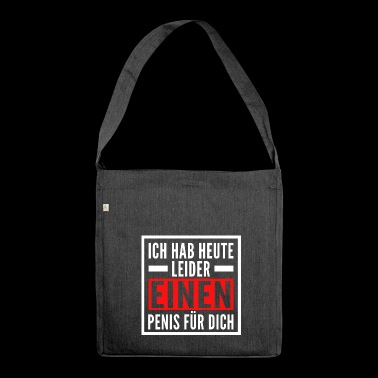 Penis für dich - Schultertasche aus Recycling-Material