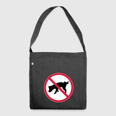 Pee prohibited - Shoulder Bag made from recycled material