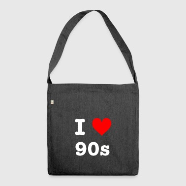 I love 90s - Shoulder Bag made from recycled material