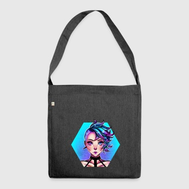 Blu Punk - Borsa in materiale riciclato