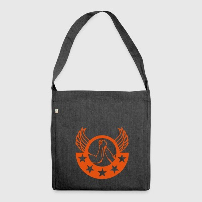arm wrestling arm iron logo12 - Shoulder Bag made from recycled material