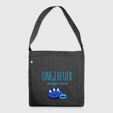 Ungeheuer artiges Kind - Schultertasche aus Recycling-Material