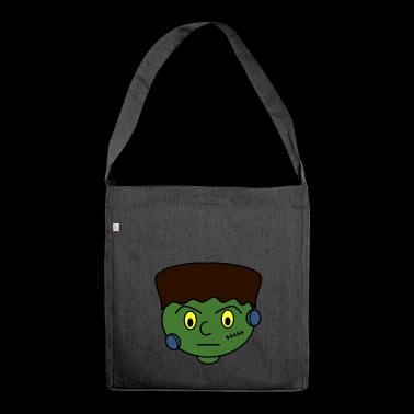 Frankenstein head - Shoulder Bag made from recycled material