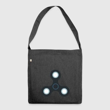 Fidget spinner rotation toy toys - Shoulder Bag made from recycled material