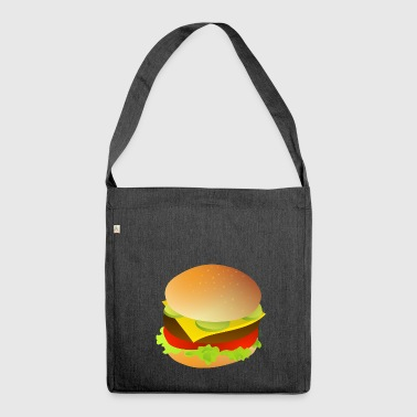 Cheeseburger gift Hamburger idea - Shoulder Bag made from recycled material