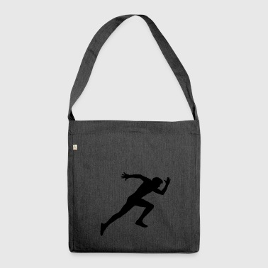 Shadow of a man running fast - Shoulder Bag made from recycled material