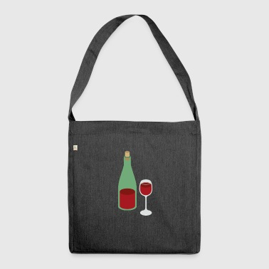 red wine - Shoulder Bag made from recycled material