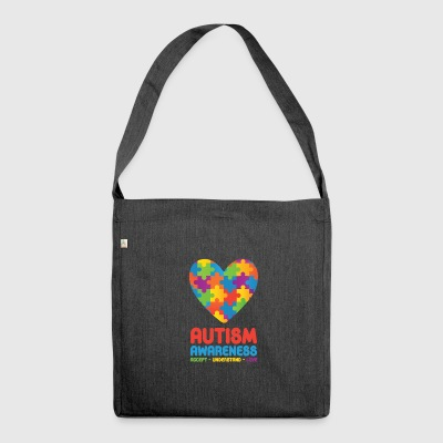 Autism Awareness - Shoulder Bag made from recycled material