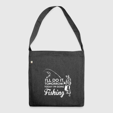 Fishing fishing fish fishing gift - Shoulder Bag made from recycled material