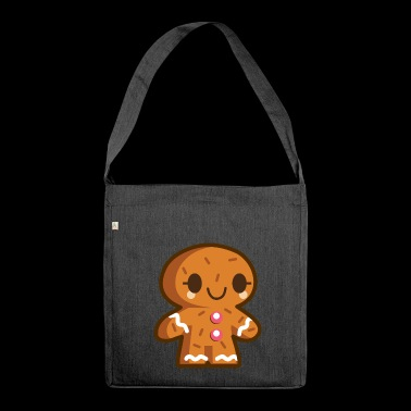 Cookie Man - Schultertasche aus Recycling-Material