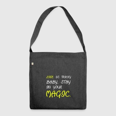 Magic magic magician magic spell magic abra - Shoulder Bag made from recycled material