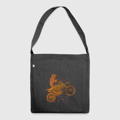 Spotting motocross - Shoulder Bag made from recycled material