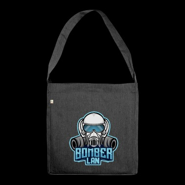 BOMBER LAN blue 2 - Shoulder Bag made from recycled material