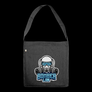 BOMBER LAN blue - Shoulder Bag made from recycled material