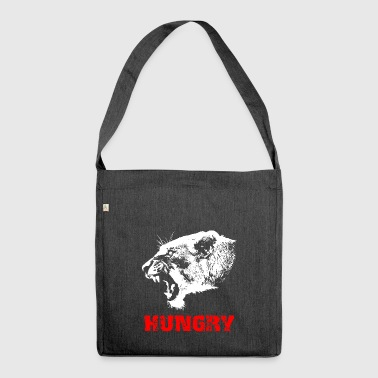 Lion - hungry - Shoulder Bag made from recycled material