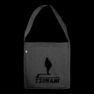 Fat man tsunami silhouette fat fat man - Shoulder Bag made from recycled material