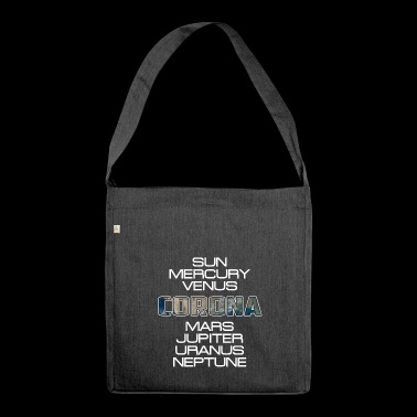 Solar System Planet Earth Corona Gift - Shoulder Bag made from recycled material