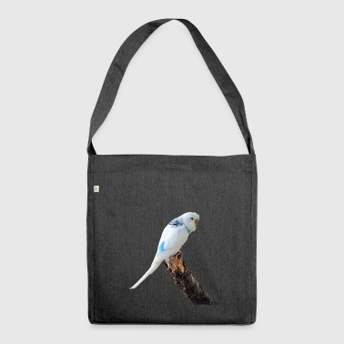 budgie bird budgerigar - Shoulder Bag made from recycled material