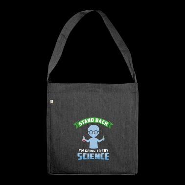 Scientist laboratory experiment gift - Shoulder Bag made from recycled material