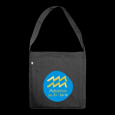 Aquarius Horoscope - Shoulder Bag made from recycled material