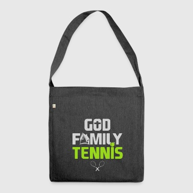 GOD FAMILY TENNIS - Shoulder Bag made from recycled material