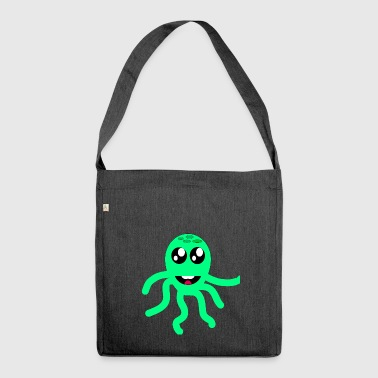 squid giant octopus octopus octopus squid sepia fish - Shoulder Bag made from recycled material