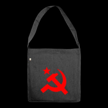 hammer and sickle - Shoulder Bag made from recycled material