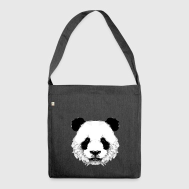 Geometrischer Panda - Shoulder Bag made from recycled material