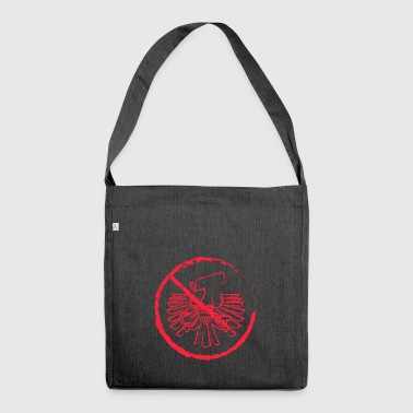 No to the surveillance state - Shoulder Bag made from recycled material