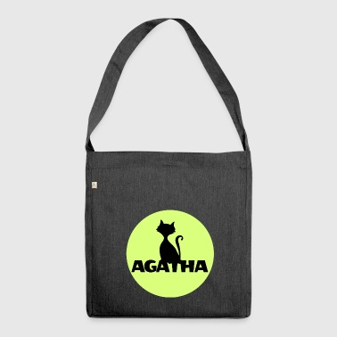 Agatha Name First name Name Motif name day - Shoulder Bag made from recycled material
