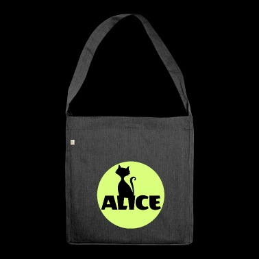 Alice First name Name Personal gift Name day - Shoulder Bag made from recycled material