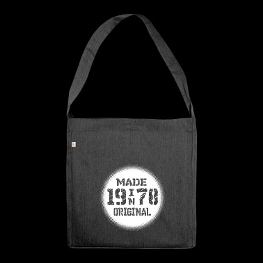 made in 1978 original year of birth year of birth - Shoulder Bag made from recycled material