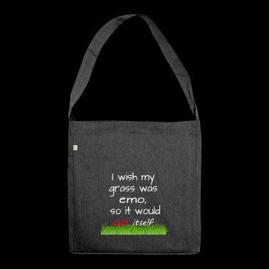 Emo - grass - lawn mowing - Shoulder Bag made from recycled material