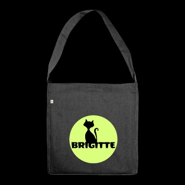 Brigitte First name name day gift - Shoulder Bag made from recycled material