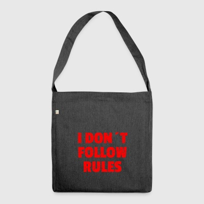 I DON´T FOLLOW RULES Red - Schultertasche aus Recycling-Material