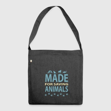 Veterinarian animals veterinarian animal rescuer occupation - Shoulder Bag made from recycled material
