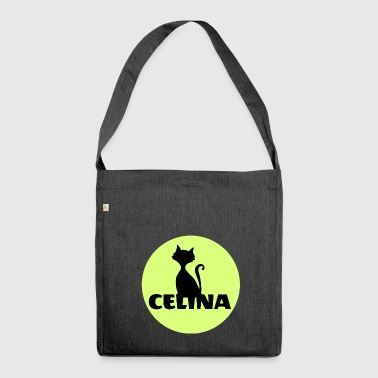 Celina Name - Schultertasche aus Recycling-Material