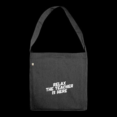 Teacher shirt for teachers and teachers - Shoulder Bag made from recycled material
