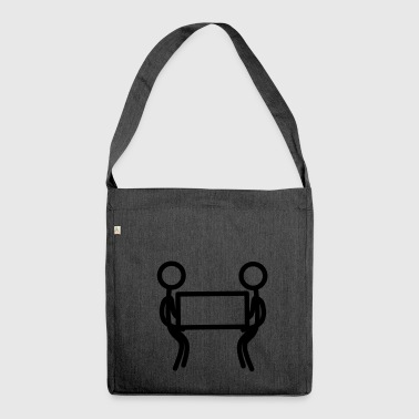 Stickman work - Shoulder Bag made from recycled material