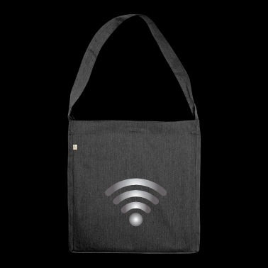 wifi lan network - Shoulder Bag made from recycled material