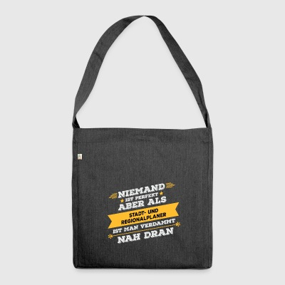 City and regional planner profession gift - Shoulder Bag made from recycled material