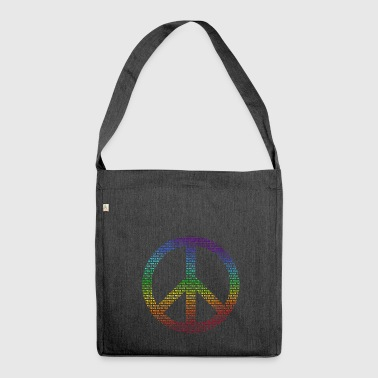 Peace Sign Peace Demo Flower Power Letter - Shoulder Bag made from recycled material