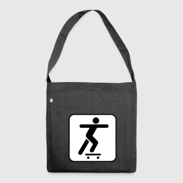 skater skateboard boarder skateboarding7 - Shoulder Bag made from recycled material