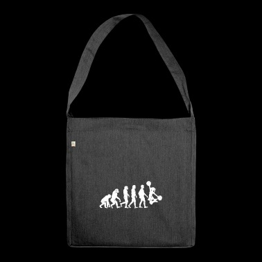 Cheerleading evolution gift cheerleader - Shoulder Bag made from recycled material