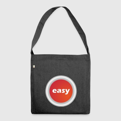 Easy Button - Shoulder Bag made from recycled material