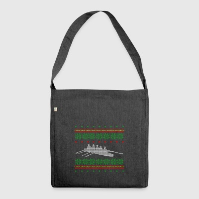 row ugly sweater christmas gift xmas - Shoulder Bag made from recycled material