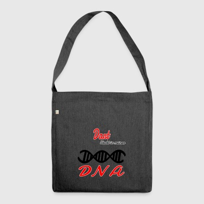 Is in my DNA hobby darts - Shoulder Bag made from recycled material